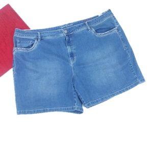 Gloria Vanderbilt Jacqueline Embel Denim Shorts